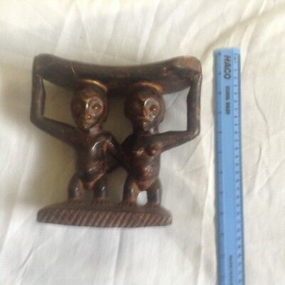 african mask antique headrest congo marriage