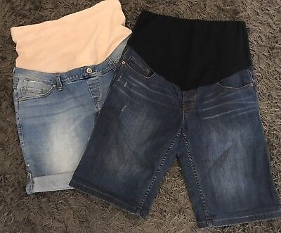 Lot of 2 x MATERNITY Clothing Denim Shorts JEANSWEST & Sussan SIZE 10