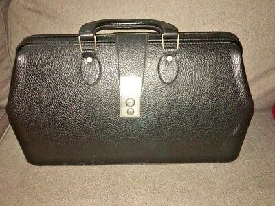 Vintage Doctor's / Attorney Bag DURA HYDE VINYL Great Condition MADE IN HUNGARY