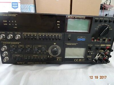 Metex MS-9150 Universal System Freq Counter Function Gen, DMM and 3 PS Output