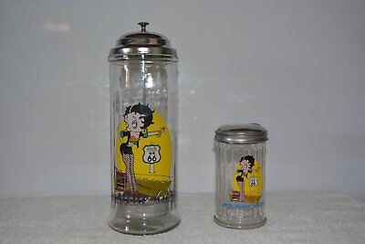 Vintage Betty Boop Route 66 Straw Holder and Sugar Dispenser/Pourer