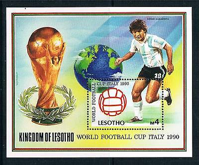 Lesotho 1989 World Cup MS SG 946 MNH