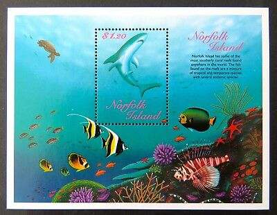 1998 Norfolk Island Stamps - Reef Fish Mini Sheet -$1.20 MNH