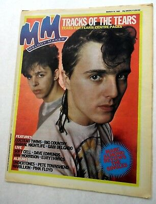 MELODY MAKER Music Magazine 3/19/1983 TEARS FOR FEARS Cocteau TWINS etc. MM#2 h