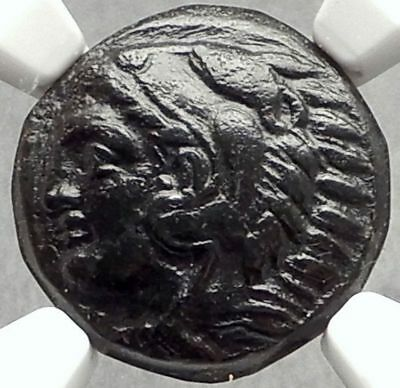 ALEXANDER III the GREAT Rare LEFT Head Ancient 326BC Greek Coin NGC i66661