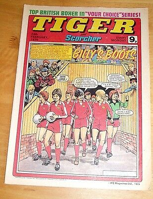 Tiger Comic 24/2/1979 With  Newcastle United Full Colour Team Centrefold Poster