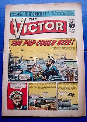 Hms Yarmouth & Sopwith Pup Down German Zeppelin L.23 Ww1 Cover Story Victor 1972