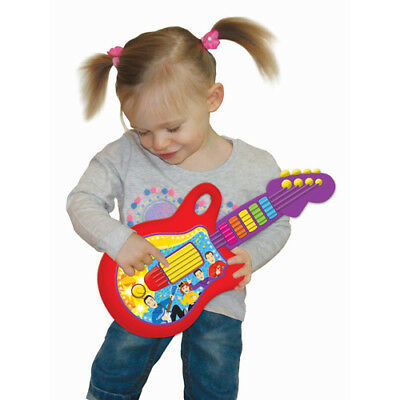 New The Wiggles Play Along Guitar Musical Interactive Toy Plays 5 Wiggles Songs