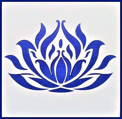 Flexible Stencil *LOTUS FLOWER* Design # 1 Pond Card Making Crafts 10cm x 10cm