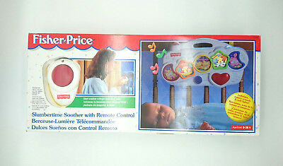 Rare NIB Vintage 1997 Fisher Price Slumbertime Soother & Remote Control Toy Baby