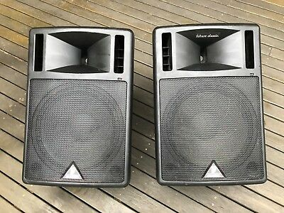 Behringer 2 x B300 300W Active PA Speakers 15""
