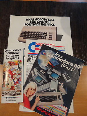Official C64 Commodore 64 Brochure Magazine Catalogue Bundle / SUPER RARE