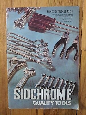 Sidchrome Quality Tools 1973 Illustrated Catalogue Vintage Retro Garage Mancave