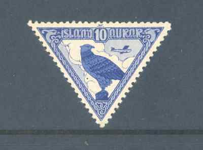 Iceland 1930 Airmail Falcon Very Fine Mint