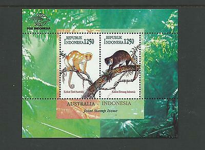 1996 Indonesia Australia Mini Sheet joint issue with Australia complete MUH/MNH