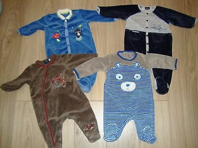 Lot 4 Pyjamas Velours 6 Mois Garcon Sergent Major