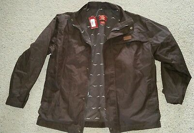 NEW NWT R M Williams oilskin wax cotton water proof short hip length jacket sz M