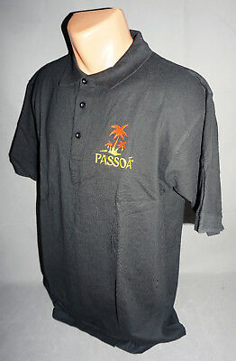 Passoa Likör Cocktail Herren Man Men Polo Shirt Gr. M Medium Schwarz NEU OVP