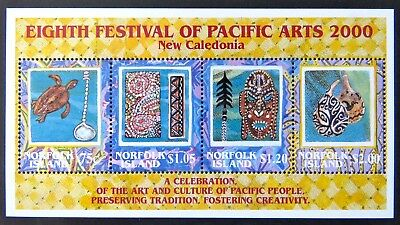 2000 Norfolk Island Stamps - Eighth Festival of Pacific Arts Mini Sheet MNH