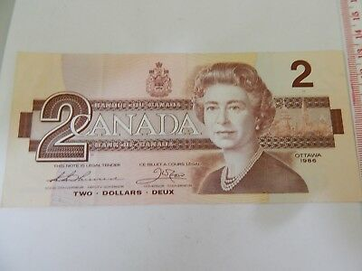 Canada $2.00 Unc Note withdrawn bank notes rare