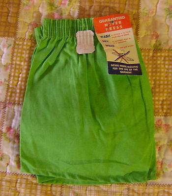 NOS 1970s toddler Unisex LIME GREEN Shorts W/Tags+ Size 3T+ WOOLWORTH`S+
