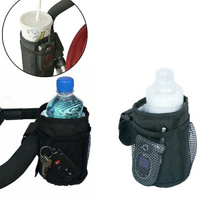 Baby Stroller Bag Cup Holder Bottle Pram Buggy Organizer Parent Console Fitted