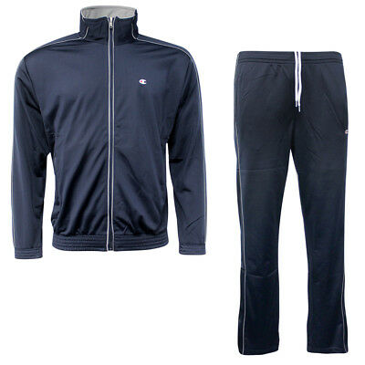 Champion Mens Track Jacket and Bottoms Full Tracksuit Navy 206570 2192 EE93