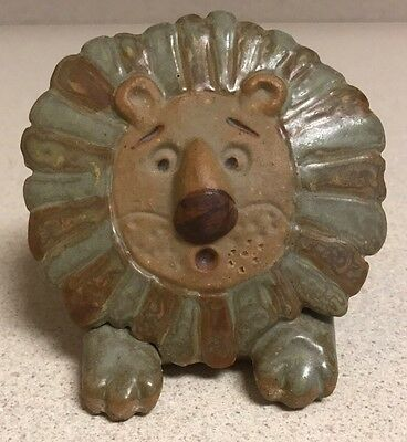 Vintage MCM Mid-Century Modern Earthenware Ceramic Lion Bank Lisa Larson