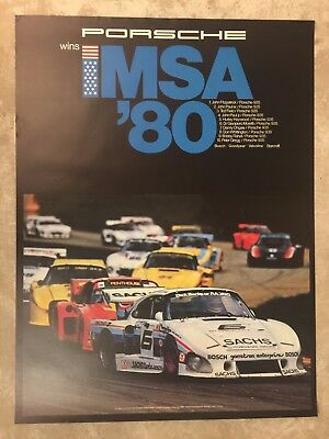 1980 Porsche 935 Coupe IMSA Victory Showroom Advertising Sales Poster RARE! L@@K