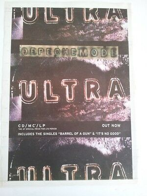 DEPECHE MODE Ultra 1997 UK Poster size Press ADVERT 16x12 inches
