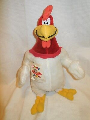 "Looney Tunes Ace Foghorn Leghorn Stuffed Doll Toy 19"" Preowned Collected W/tag"