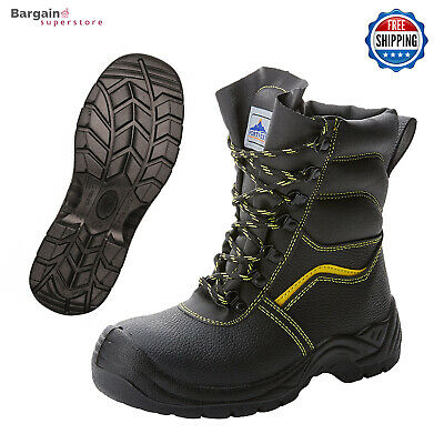 Portwest Fur Lined Protector Leather Work Safety Boots Shoes Steel Toe Cap FW05