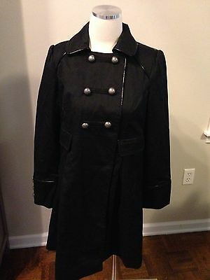 Liz Lange Maternity Black Military Style Jacket Coat XS Excellent