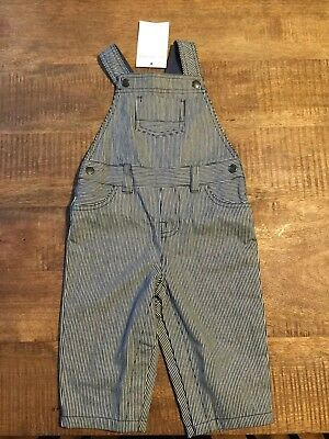 Little White Company Striped Dungarees 6-9 Months - BNWT