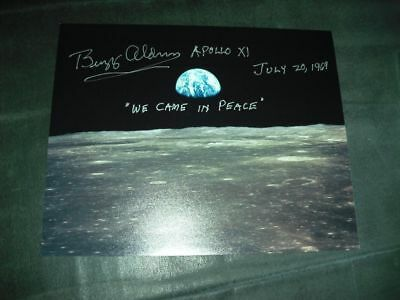 Moon/Earth Photo 20x25cm orig.signed Buzz ALDRIN, SPACE