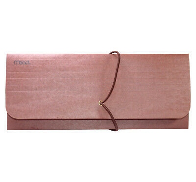 """Mead Red Check Wallet Expandable Document  35260 4"""" X 10"""""""