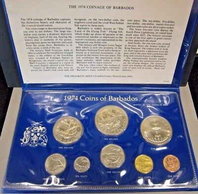 1974 Barbados 8 Coin Uncirculated Specimen Set   ** FREE U.S. SHIPPING **