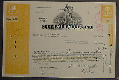 Food Fair Stores, Inc. 1969 50 Shares
