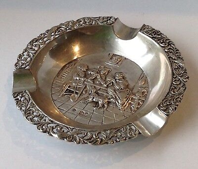 Solid Silver Dutch Ashtray WEIGHS OVER 46 Grams!!!!