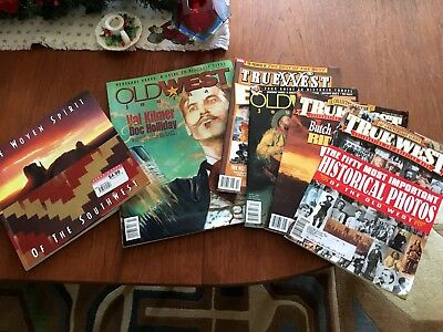 Set of 6 Two Old West, 3 True West, 1 Woven Spirit Southwest 1 Book & 5 Magazine