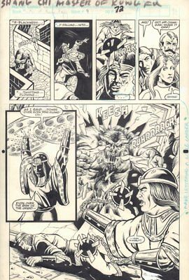 Master of Kung Fu: Bleeding Black #1 p.72 Action vs Monster 1990 art by Dan Day