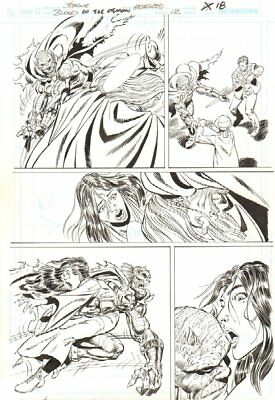 Blood of the Demon #12 p.18 - Etrigan Action - 2006 Signed art by John Byrne