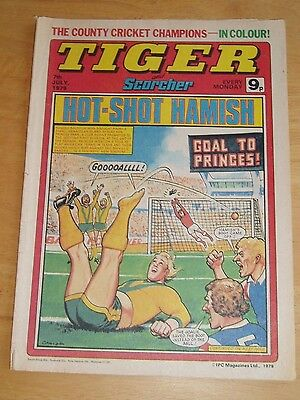 Tiger Comic 7/7/1979 With County Champions  Kent C.c.c. Team Centrefold Poster