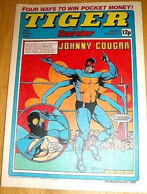 Tiger Comic  26/4/80 With  Wrexham  F.c.team Double Page Poster & Duncan Goodhew