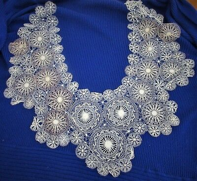 Antique,LACE,handmade,INCREDIBLE WORKMANSHIP,SO DELICATE FEELS LIKE A FEATHER