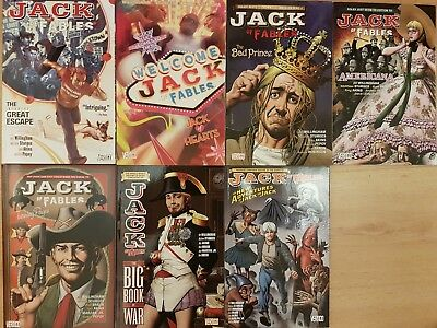 Bill Willingham Fables Completed Set Jack Of Fables Collection Vol  1 to 7 TPB