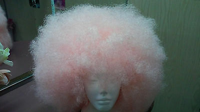 Adults Large light pink  Afro Costume Wig