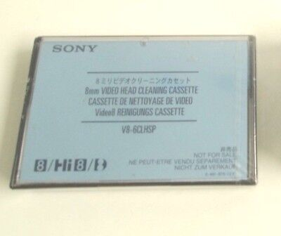 Sony Hi 8 Video Head Cleaning Cassette Recorders 8mm V8-6CLHSP NEW SEALED
