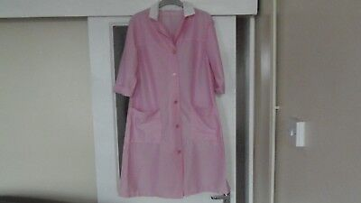 Vintage Ladies Pink Nylon Overall Size W Is Approx  12 To 14