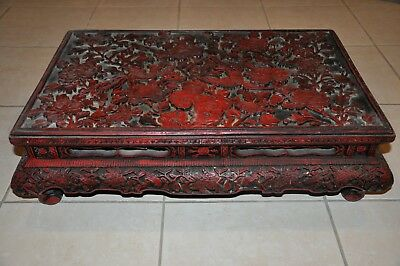 Chinese Cinnabar Low Stand/Table